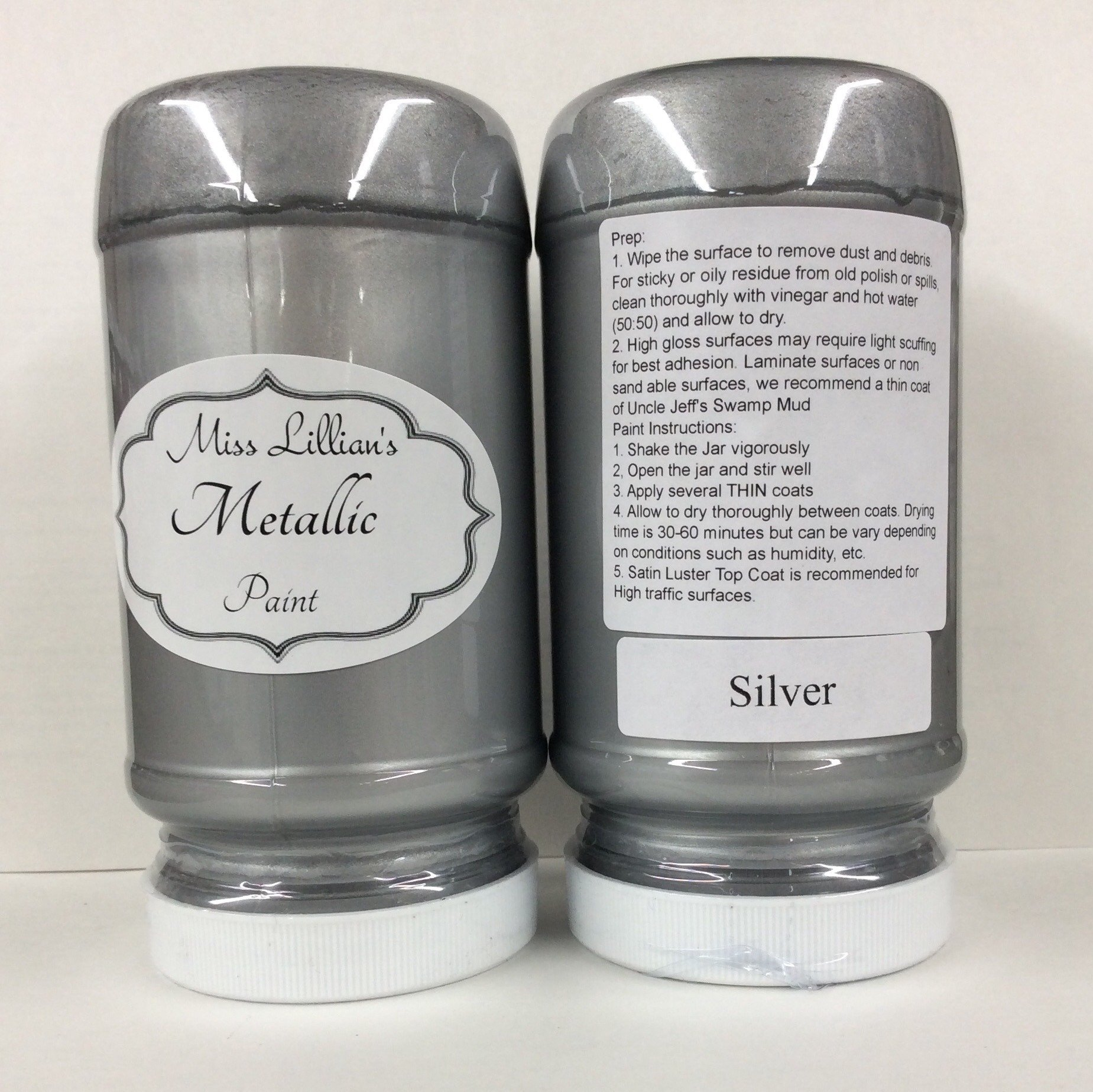 Miss lillian 39 s no wax chock paint metallic paint for How to make silver paint