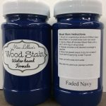 Wood Stain 8 oz - faded-navy
