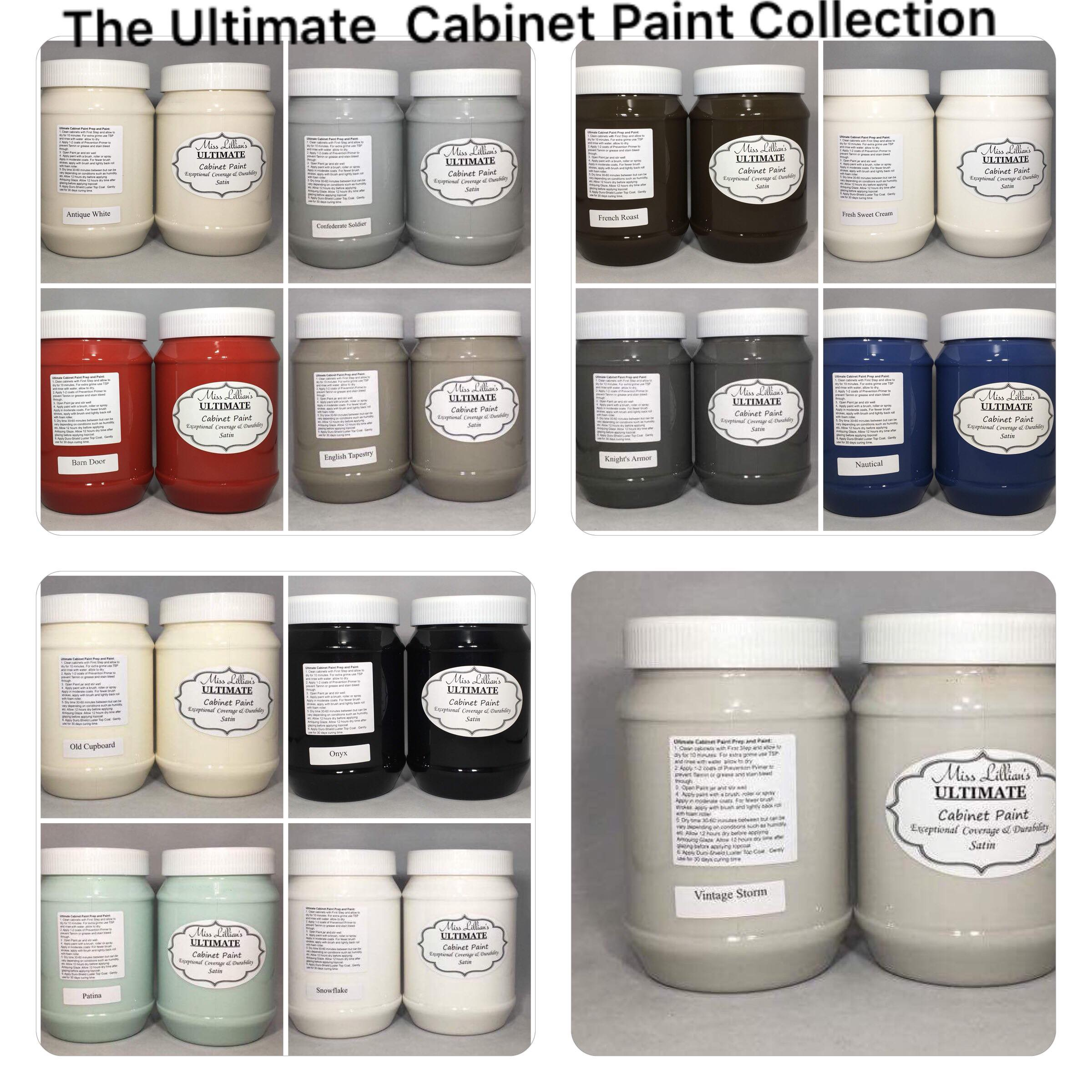 Ultimate Cabinet Paint Collage